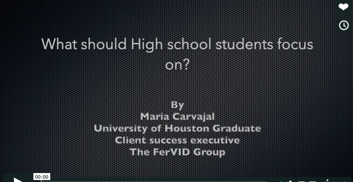 What should High School Students focus on?